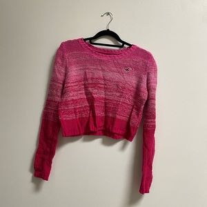 Hollister Pink Ombré Marled Knit Sweater